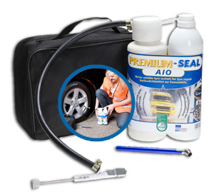 PREMIUM-SEAL AIO Comfort Plus flat tyre set for cars / SUVs